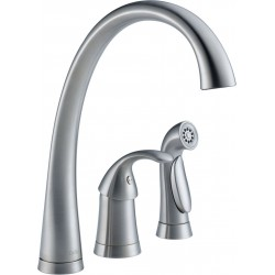 Delta 4380-DST Single Handle Kitchen Faucet with Spray Pilar®