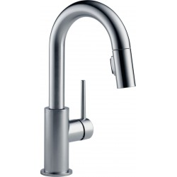 Delta 9959-DST Single Handle Pull-Down Bar/Prep Faucet Trinsic®