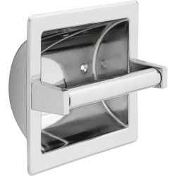 Delta 45072 Brass Recessed Paper Holder with Brass Roller in Chrome