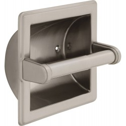 Delta 45072-SN Brass Recessed Paper Holder with Brass Roller in Satin Nickel