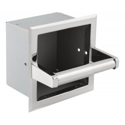 Delta 45470-ST Stainless Steel Recessed Extra Roll Paper Holder in Bright Stainless - Chrome appearance