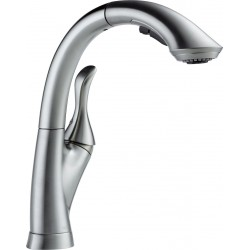 Delta 4153-DST Single Handle Water-Efficient Pull-Out Kitchen Faucet Linden™