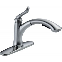 Delta 4353-DST Single Handle Water-Efficient Pull-Out Kitchen Faucet Linden™
