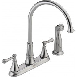 Delta 2497LF Two Handle Kitchen Faucet with Spray Cassidy™