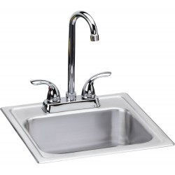 Elkay DSEP1515C Dayton Stainless Steel Single Bowl Top Mount Sink Kit