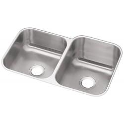 Elkay DXUH312010L Dayton Stainless Steel Double Bowl Undermount Sink