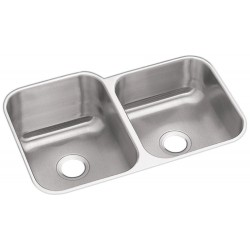 Elkay DXUH312010R Dayton Stainless Steel Double Bowl Undermount Sink