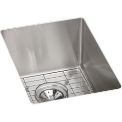 Elkay ECTRU12179DBG Crosstown Stainless Steel Single Bowl Undermount Bar Sink Kit