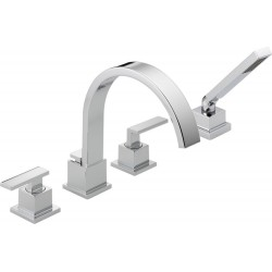 Delta T4753 Roman Tub With Hand Shower Trim Vero™