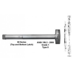 Detex ADVANTEX 80 Series Concealed Vertical Rod Exit Device ( For Hollow Metal Door )