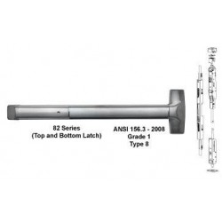 Detex ADVANTEX 82 Series Concealed Vertical Rod Exit Device ( For Aluminum Door )