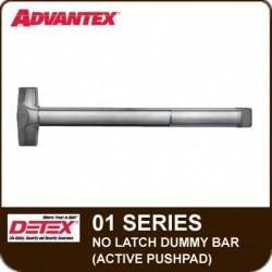 Detex ADVANTEX 01/04 Series No Latch Dummy Bar ( Active Pushpad)