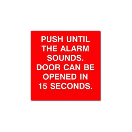 Detex Advantex Push Until Alarm Sounds Door Can Be Opened