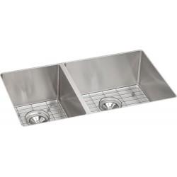 Elkay ECTRU32179LDBG Crosstown Stainless Steel Double Bowl Undermount Sink Kit