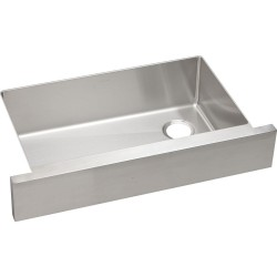 Elkay ECTRUF30179RDBG Crosstown Stainless Steel Single Bowl Apron Front Undermount Sink Kit