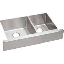Elkay ECTRUF32179R Crosstown Stainless Steel Double Bowl Apron Front Undermount Sink