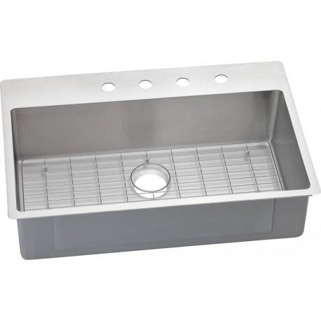 Elkay ECTSRS33229BG Crosstown Stainless Steel Single Bowl Dual / Universal  Mount Sink Kit