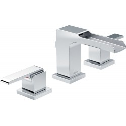 Delta 3568LF-MPU Two Handle Widespread Lavatory Faucet with Channel Spout Ara™