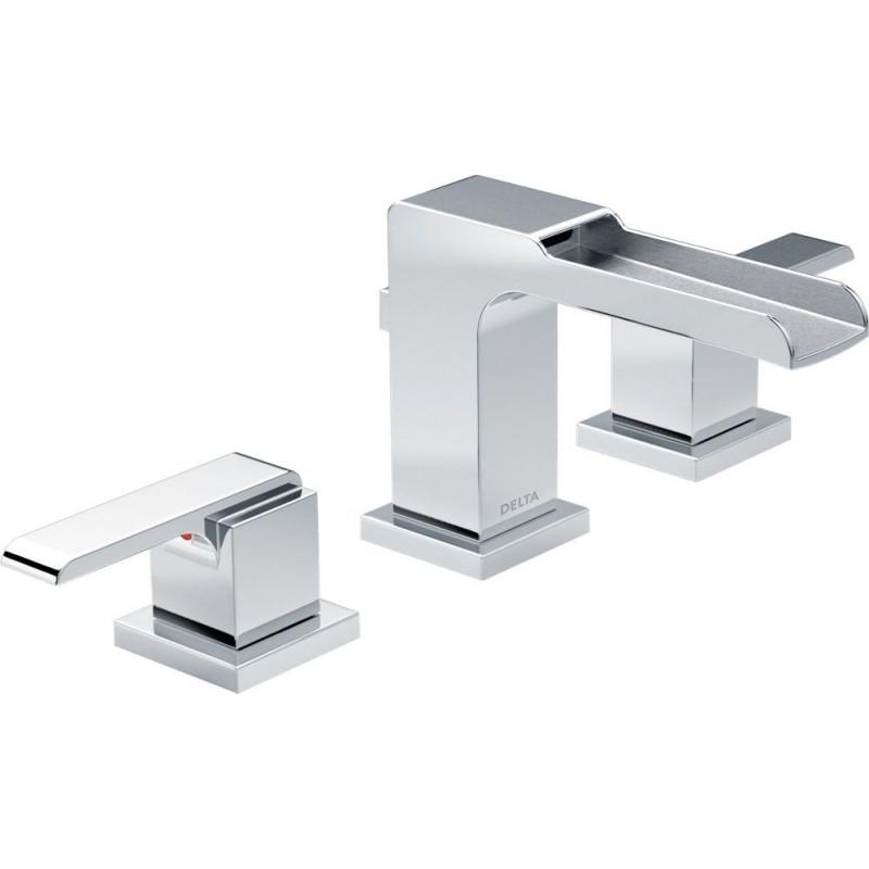 Delta 3568lf Mpu Two Handle Widespread Lavatory Faucet