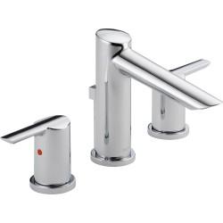 Delta 3561-MPU-DST Widespread Bath Faucet w/ metal pop-up Compel®