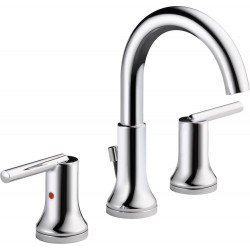 Delta 3559-MPU-DST Widespread Lavatory Faucet w/ metal pop-up Trinsic®