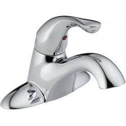 Delta 500-WCS-DST Single Handle Centerset Lavatory Faucet - Less Pop-Up in Chrome Classic