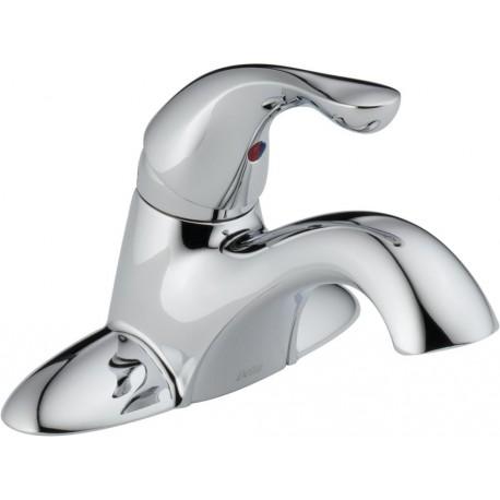 Delta 500-WCS-DST Single Handle Centerset Lavatory Faucet - Less Pop-Up in Chrome Classic