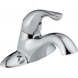 Delta 500-DST Single Handle Centerset Lavatory Faucet - Less Pop-Up in Chrome Classic