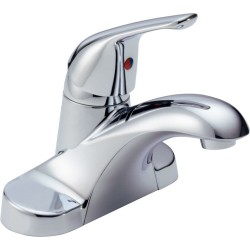 Delta B501LF Single Handle Lavatory Faucet Less Pop-up in Chrome Foundations®