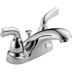 Delta B2510LF-PPU Two Handle Centerset Lavatory Faucet in Chrome Foundations®