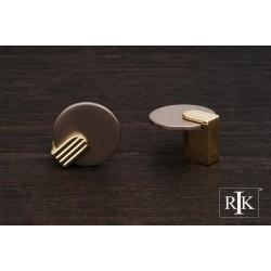 RKI CK 9220 Round Knob with Brass Stem