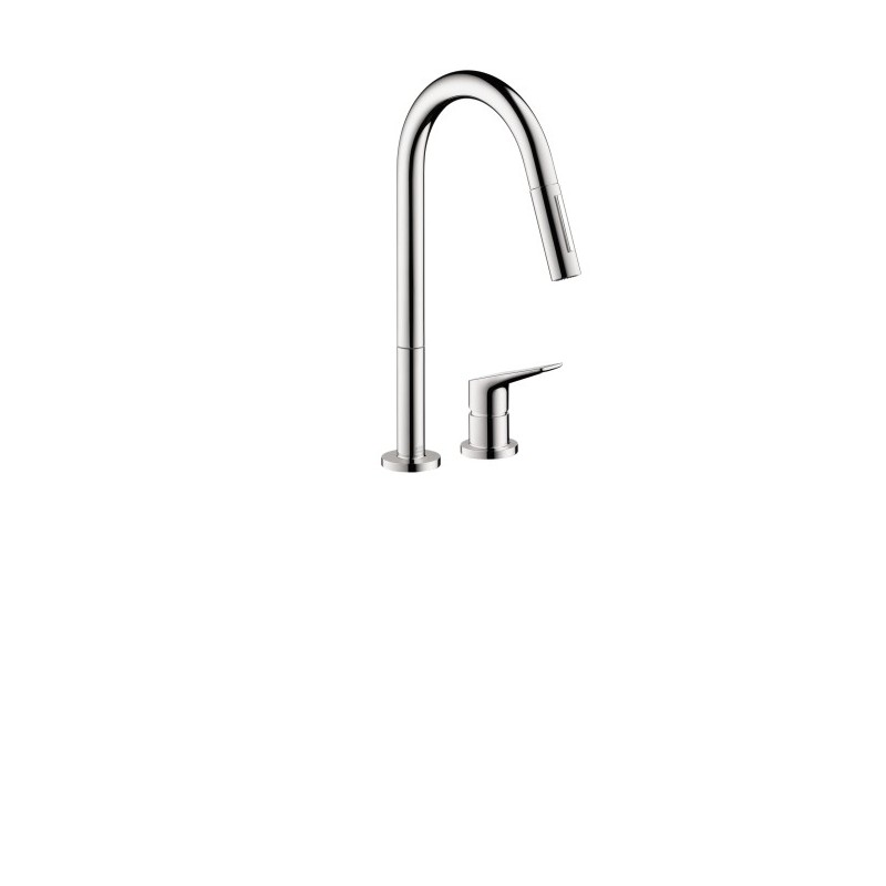 axor 34822001 citterio m 2 hole kitchen faucet pull down