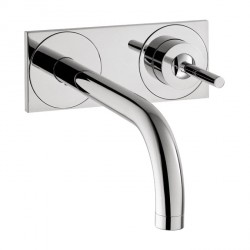 Axor 38117001 Uno Wall-Mounted Single-Handle Faucet Trim with Base Plate