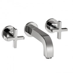 Axor 39143001 Citterio Wall-Mounted Widespread Faucet Trim with Cross Handles