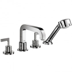 Axor 39454001 Citterio 4-Hole Roman Tub Set Trim with Lever Handles