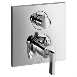 Axor 39700001 Citterio Thermostatic Trim with Volume Control, Lever Handle