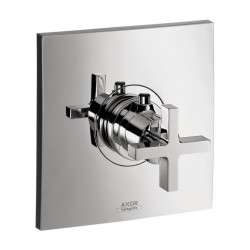 Axor 39716001 Citterio Thermostatic Trim with Cross Handle