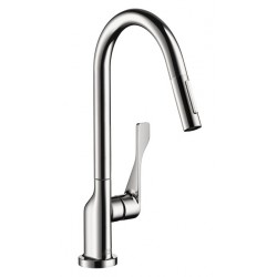 Axor 39835001 Citterio 2-Spray HighArc Kitchen Faucet, Pull-Down