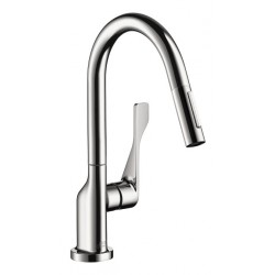 Axor 39836001 Citterio 2-Spray Prep Kitchen Faucet, Pull-Down