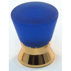 Cal Crystal 102-CM Athens Collection Polyester Colored Round Knob with Solid Brass Base