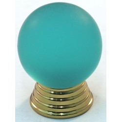 Cal Crystal 106-CM Athens Collection Polyester Sphere Knob with Solid Brass Knobs