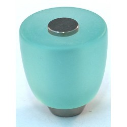 Cal Crystal 108-CM Athens Collection Polyester Round Knob with Solid Brass Knobs