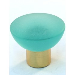 Cal Crystal 113-CM Athens Collection Polyester Round Knob with Solid Brass Knobs