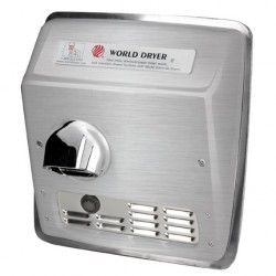 World Dryer Model XRA Series Automatic Recessed Hand Dryer