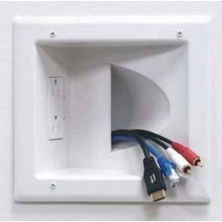 World Dryer VMAX Recessed Duplex Receptacle