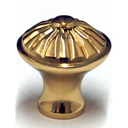 Cal Crystal VB-9 Fluted Polished Brass Cabinet Knob