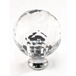 Cal Crystal M30 Faceted Round Cabinet Knob