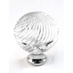 Cal Crystal M30S Faceted Round Cabinet Knob