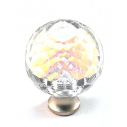 Cal Crystal M30AB Rainbow Faceted Round Cabinet Knob