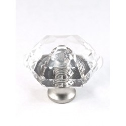 Cal Crystal M31 Crystal Knob Collection Hexagon Knob